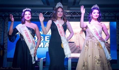मिस नेपाल क्यालिफोर्निया-२०१७ को ताज रोज लामालाई
