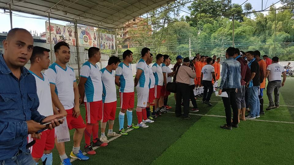 श्रमिक कप रनिङ शिल्ड फुटसल प्रतियोगिता गोल्फुटारमा