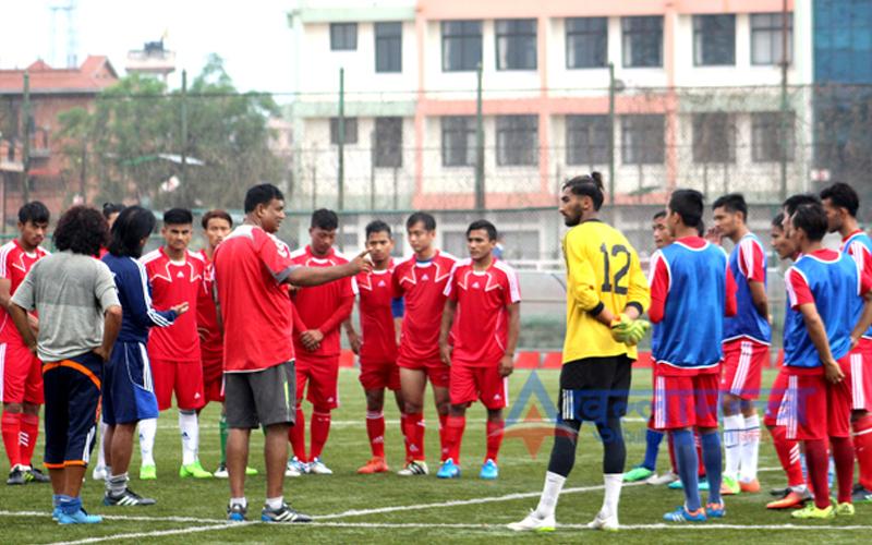 यु २३ एसिया कप फुटवल खेलाडीलाई विदाई