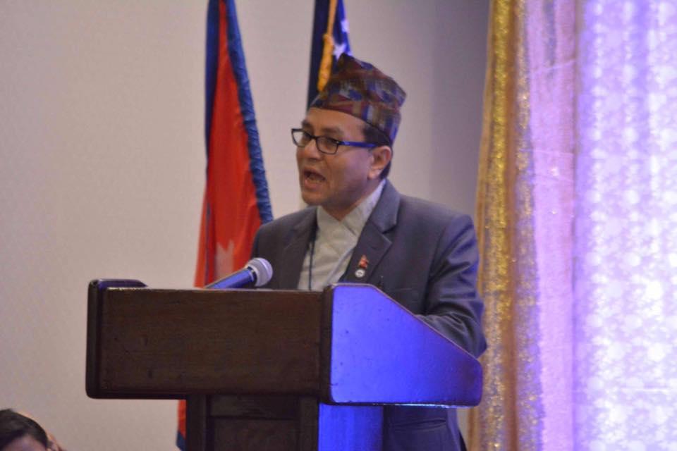 एनएसटी सभापती कृष्ण लामिछाने एनआरएन अमेरिका बोर्ड सदस्यका उम्मेद्वार
