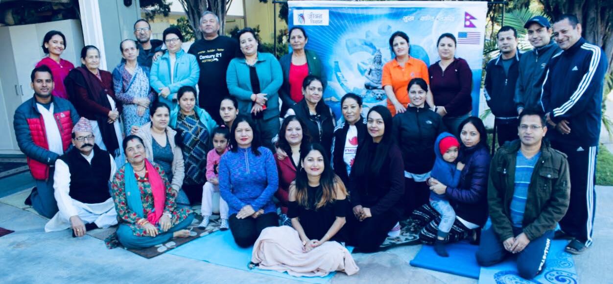 लस एन्जलसमा ध्यान-योग कार्यक्रम सम्पन्न (फोटो फिचर सहित)