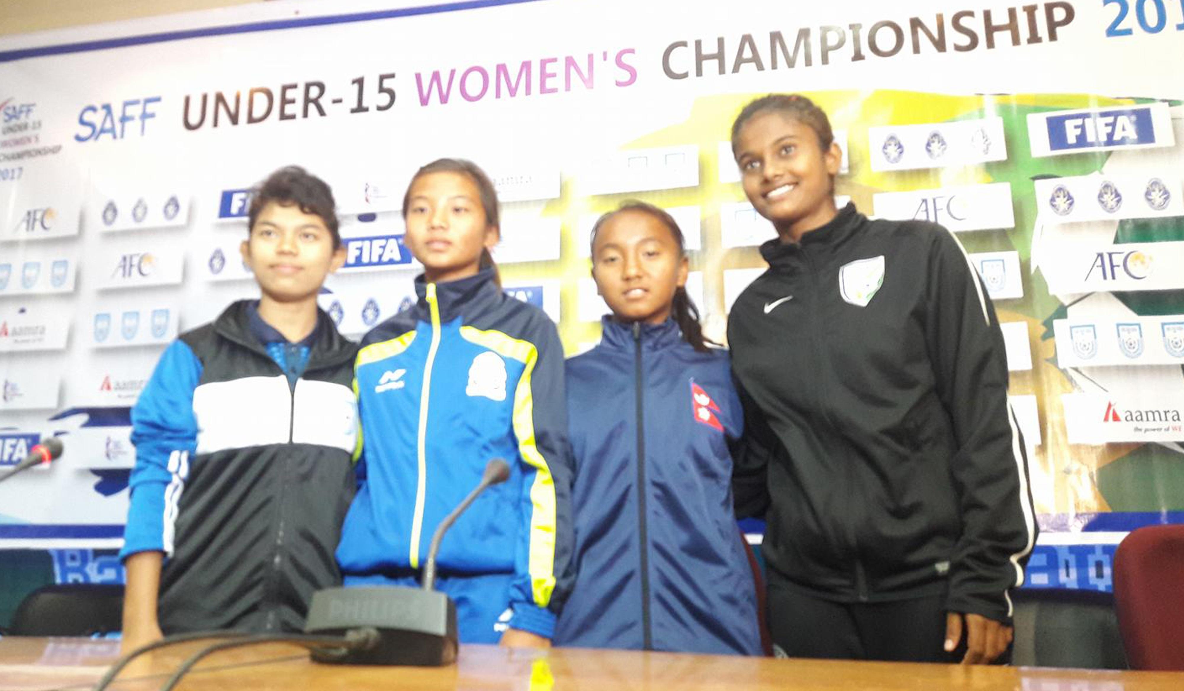 साफ यु १५ महिला फुटबलमा नेपालले बंगलादेशसंग भिड्ने, यस्तो छ तयारी