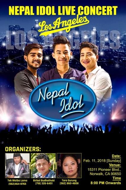 नेपाल आईडल मेगा कन्सर्ट : लस एन्जलसमा