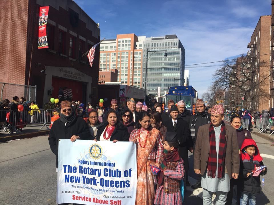 चिनिया नयाँ बर्ष परेड : नेपाली समुदायद्वारा सहभागिता