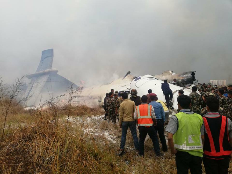 Bangaladeshi plane crashes in Nepal killing at least 50