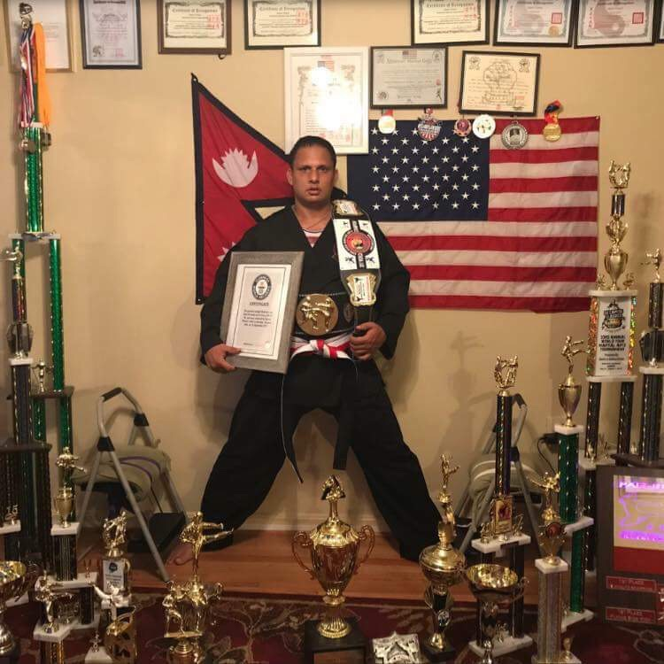 Second Times  Guinness World Record Break by Karate Player Ujjwal Thakuri