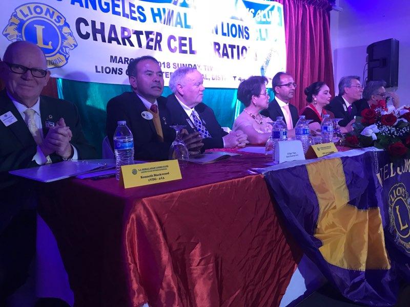 लस एन्जलस हिमालयन लायन्स क्लब स्थापना : सुर्य प्रसाईं सभापती