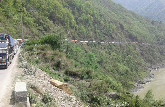पहिरोले नारायणगढ – मुग्लिन सडक अवरुद्ध