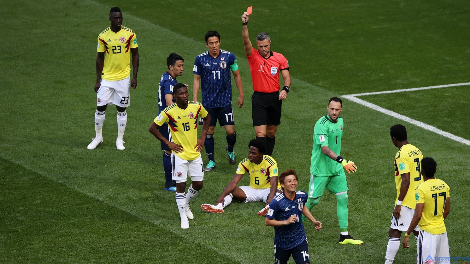 जापानविरुद्ध रेड कार्ड खाएका कोलम्बियन खेलाडीलाई मारिदिने धम्की