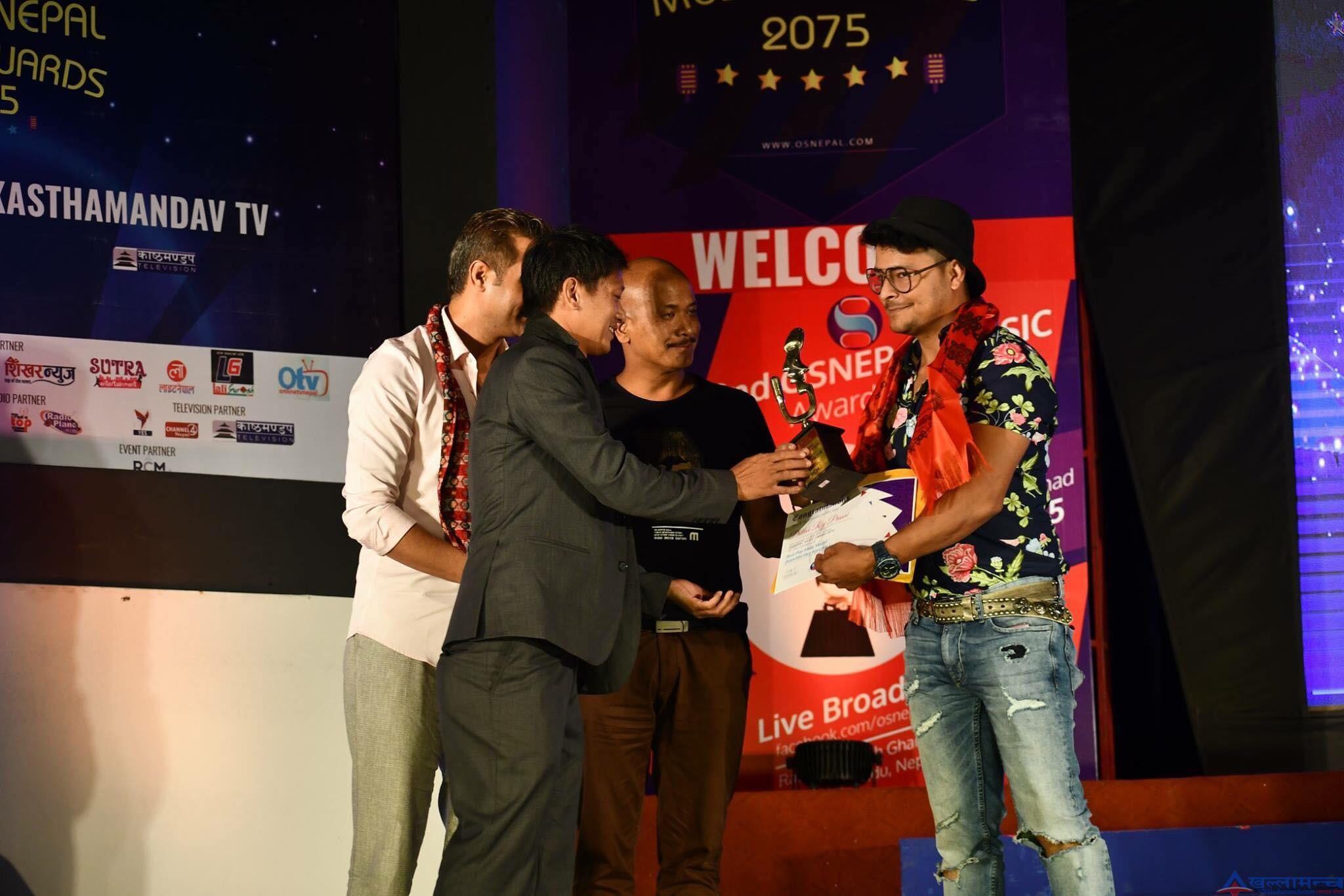 ओएस नेपाल म्युजिक अवार्ड, पृथ्बी राज प्रसाईं पुरुषतर्फ बेस्ट पप मोडल विजेता