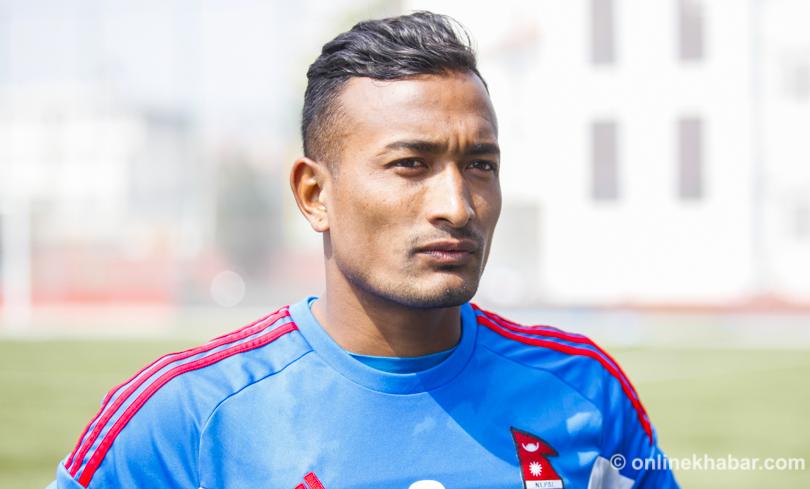 कीर्तिमान नजिक नेपाली फुटबल कप्तान बिराज महर्जन