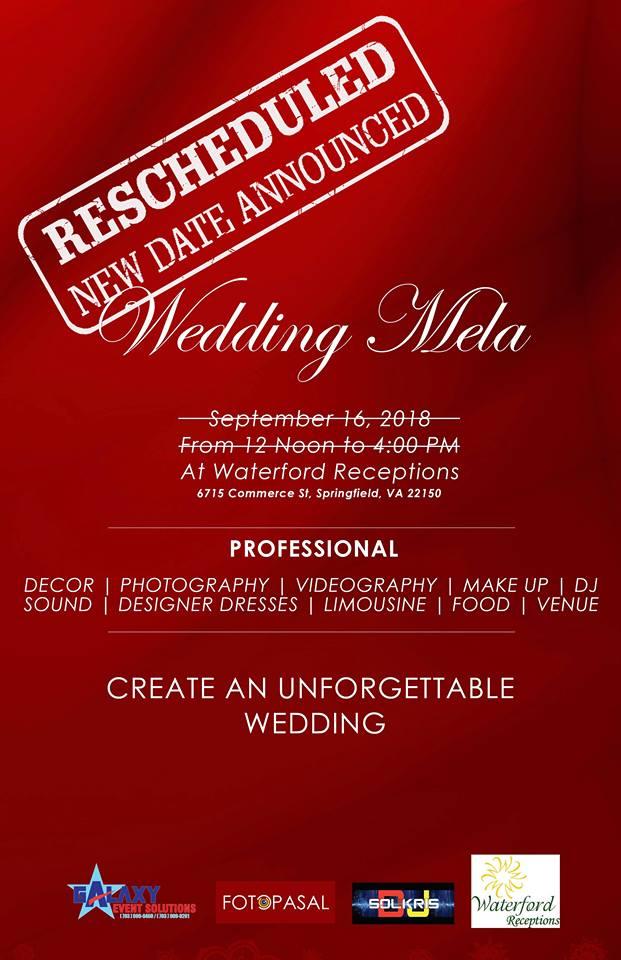 भर्जिनियामा हुने 'Wedding Mela-2018' को मिती सरेको सुचना !!!