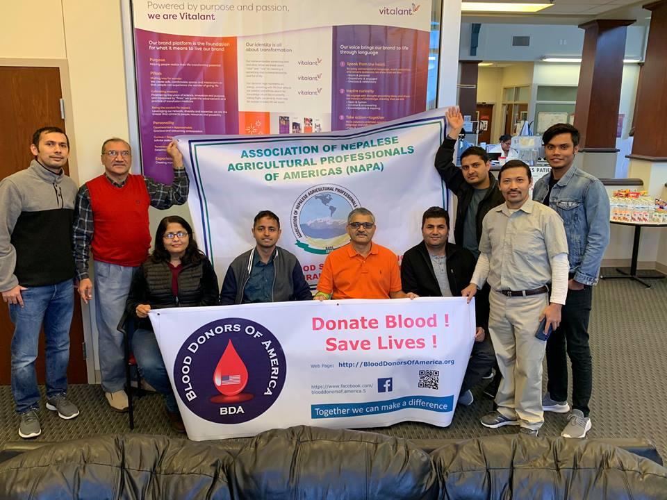 टेक्सासको लवकमा रक्तदान कार्यक्रम सम्पन्न