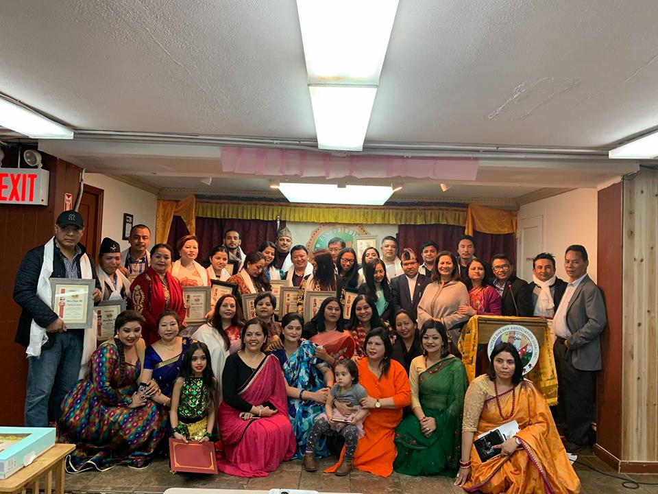 न्यूयोर्कमा बाणिज्यदूत कृशु क्षेत्री, गायक रामप्रसाद खनाल, पत्रकार किरण मरहठ्ठाहरु सम्मानित