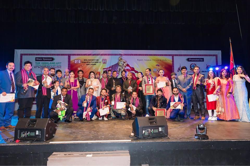 तेस्रो ग्लोबल नेपाली फिल्म अवार्ड २०१८ : भब्यताका साथ सम्पन्न