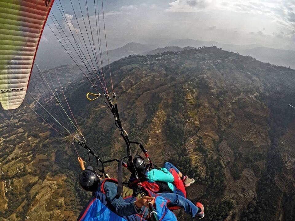 काठमाण्डौमा 'शंकरापुर पाराग्लाइडिङ्ग'
