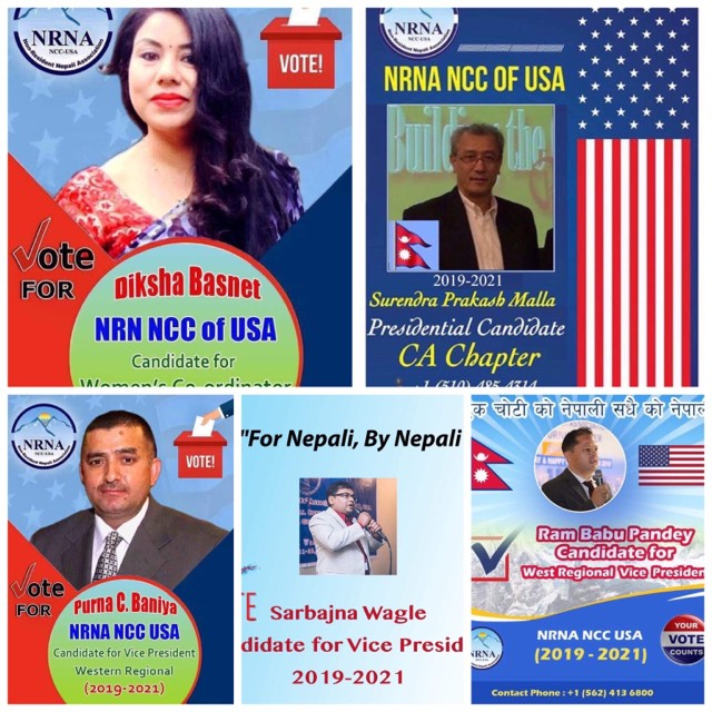 एनआरएन अमेरिका निर्वाचन : को को लड्दैछन क्यालिफोर्नियाबाट ?