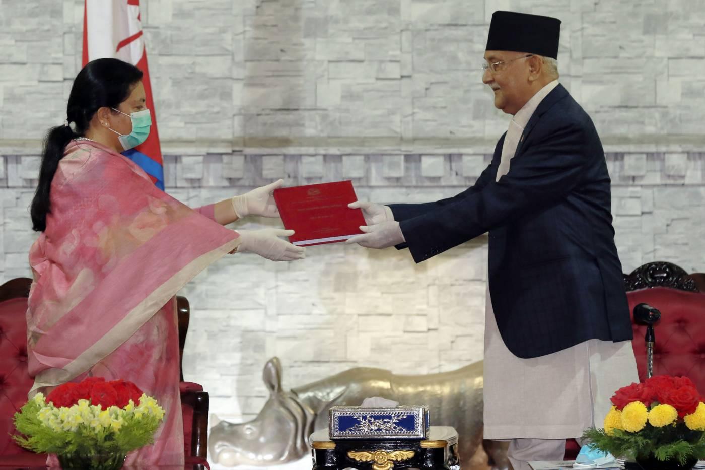राष्ट्रपतिसमक्ष नेपाल सरकार र सुरक्षा परिषद्को वार्षिक प्रतिवेदन पेश