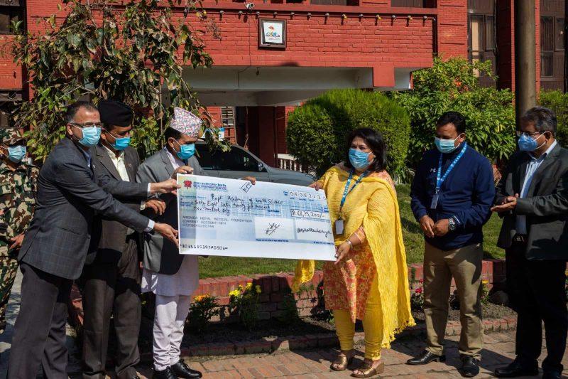 आइसियू विस्तारका लागि राप्ती स्वास्थ्य विज्ञान प्रतिष्ठानलाई अमेरिका नेपाल मेडिकल फाउन्डेशनद्दारा ६८ लाख सहयोग