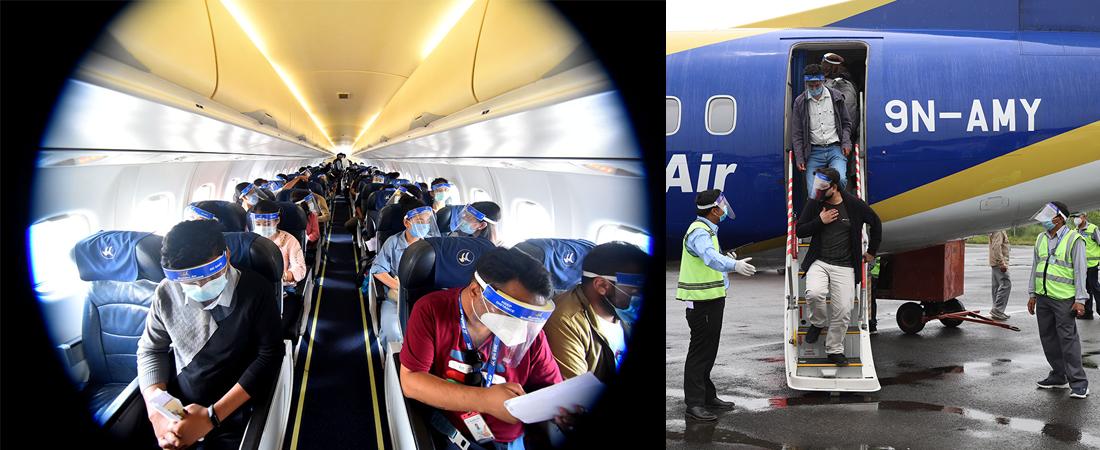कोरोना संक्रमणका बीच आन्तरिक रुपमा उडान भर्नसक्ने गरि बुद्ध एयरले  गर्यो पूर्वाभ्यास