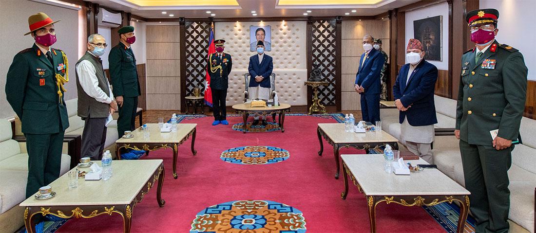 भारतीय सेनाका प्रमुख नरवणेले गरे प्रधानमन्त्री केपी शर्मा ओलीसँग भेटवार्ता