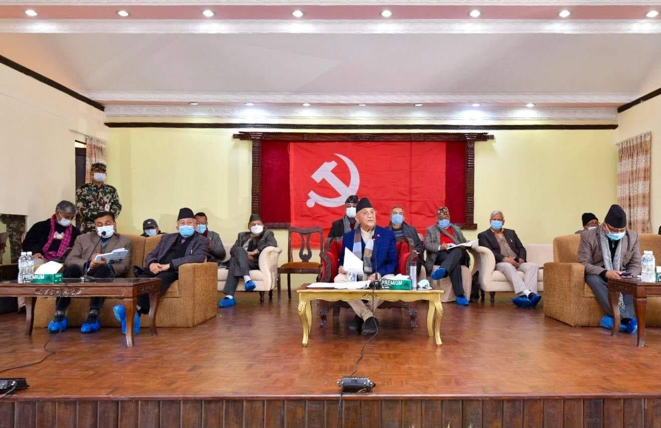 नेता तानातानमा नेकपाका दूई समुह