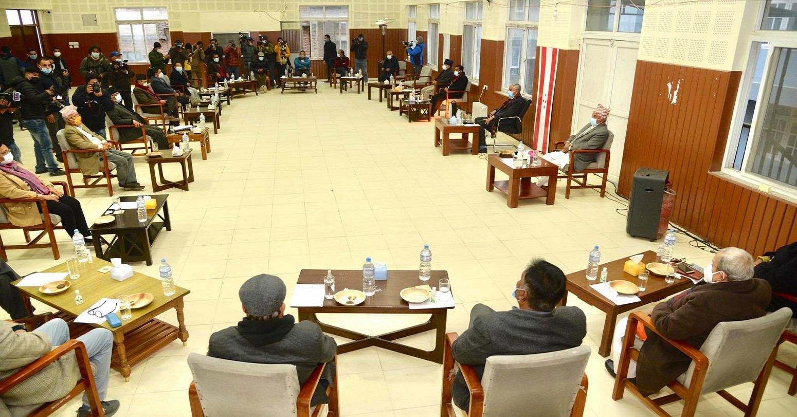 प्रधानमन्त्री ओलीको असंवैधानिक कदमविरूद्ध मिलेर संघर्ष  गर्ने तीन दलको  निर्णय