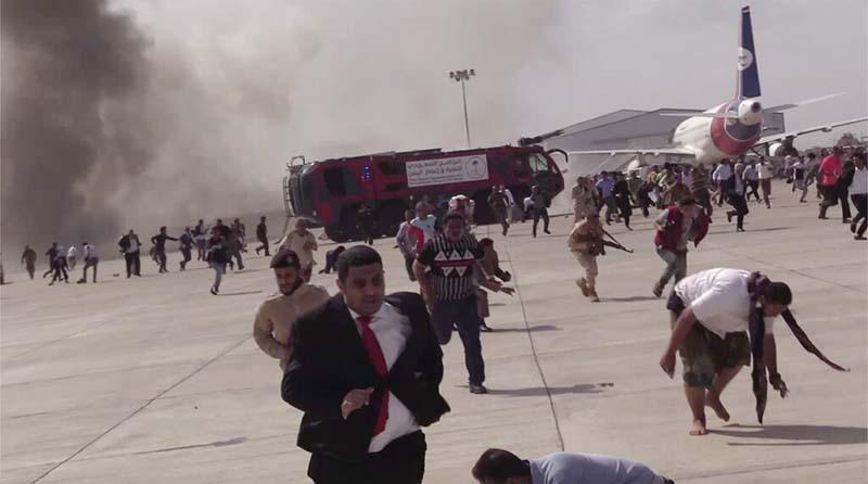 यमनको दक्षिणी भागमा रहेको एडन सहरस्थित विमानस्थलमा भएको आक्रमणमा कम्तीमा २५ जनाको मृत्यु