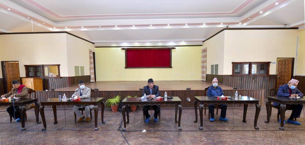 शोक प्रस्ताव पारित गर्दै  सकियो  नेकपाको स्थायी कमिटी बैठक