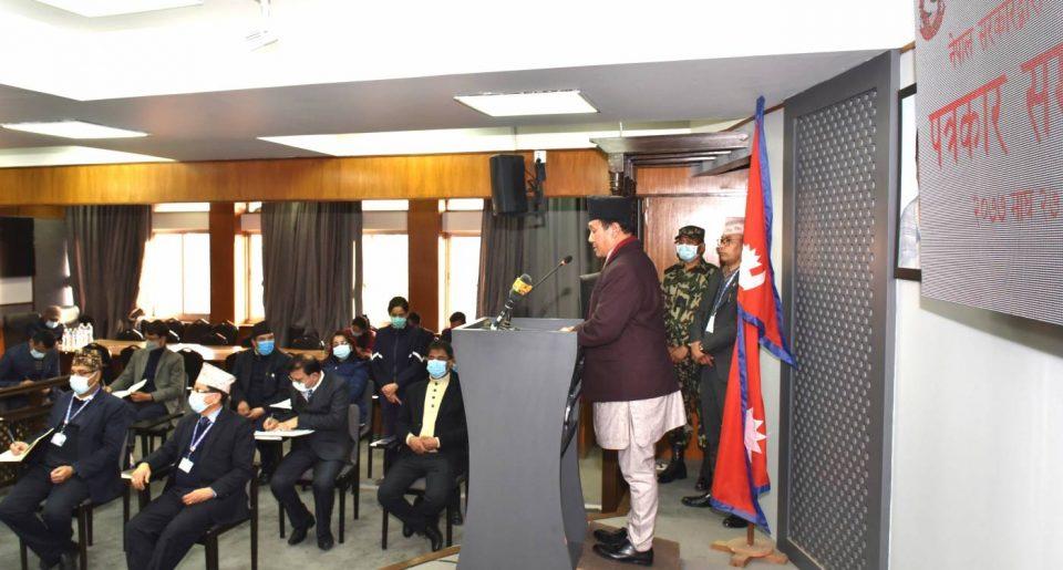 वैशाख १७ मा  २, गण्डकी , लुम्बिनी  र सुदूरपश्चिम प्रदेशका ४०  जिल्ला र वैशाख २७ गते १, बागमती  र  प्रदेशका ३७ जिल्लामा गर्न सरकारद्दारा   निर्वाचन आयोगलाई सिफारिस