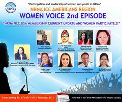 'एनआरएनए महिला आवाज बहस', दोस्रो श्रृंखला फेब्रुअरी ७ तारिख