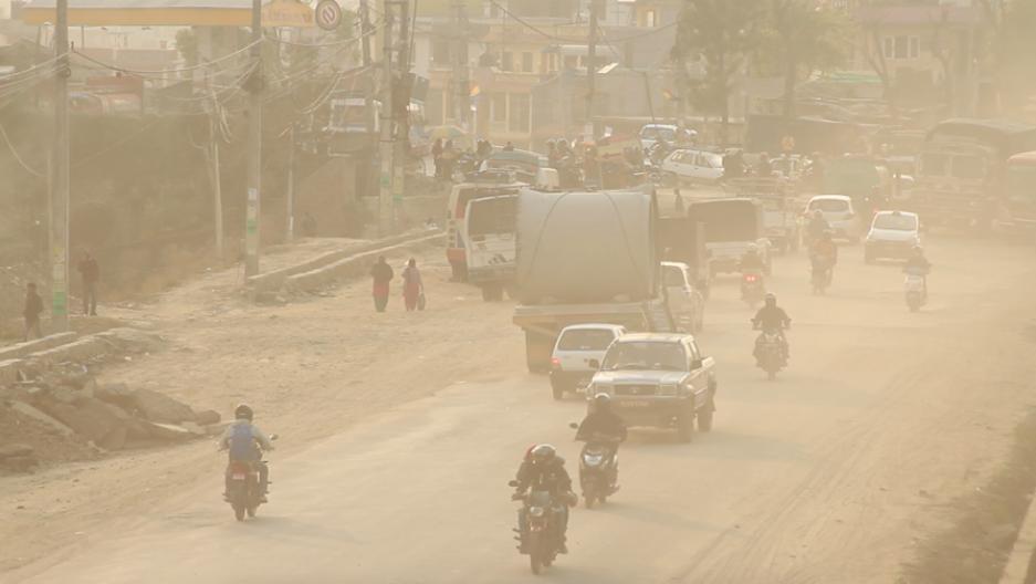 काठमाडौंको आकाशमा तुवालोसँगै धुवाँले भरियो