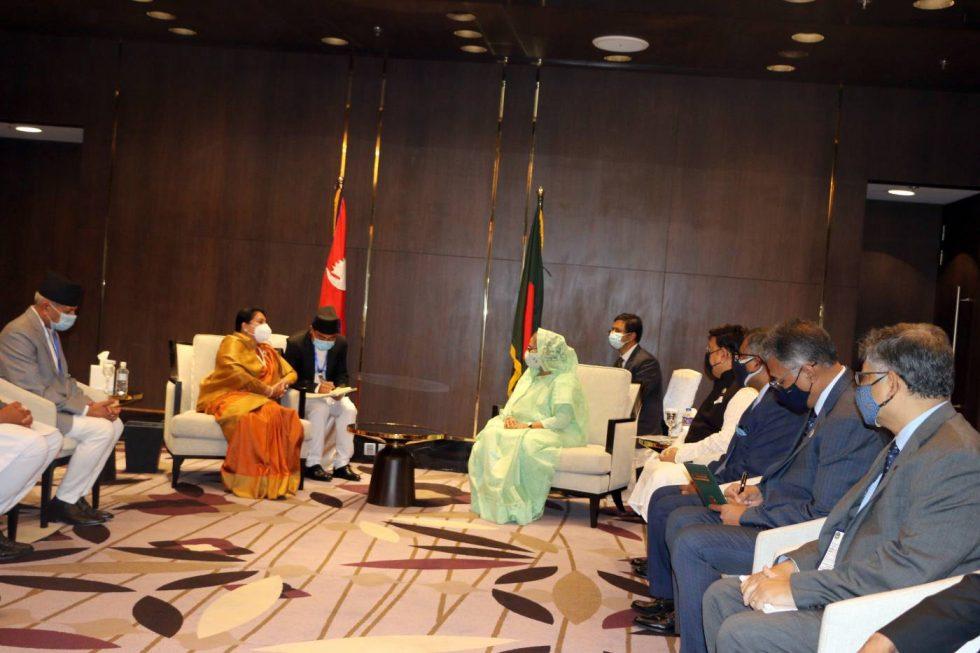 राष्ट्रपति विद्यादेवी भण्डारी बङ्गलादेशमा, भेटवार्तामा ब्यस्त