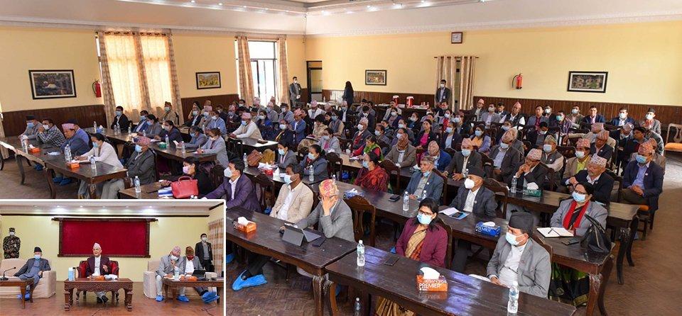 फागुन २८ पछिका निर्णयहरुमा 'व्याक' हुन नसक्ने -ओली, बैठकमा नेपाल पक्ष पनि सहभागी