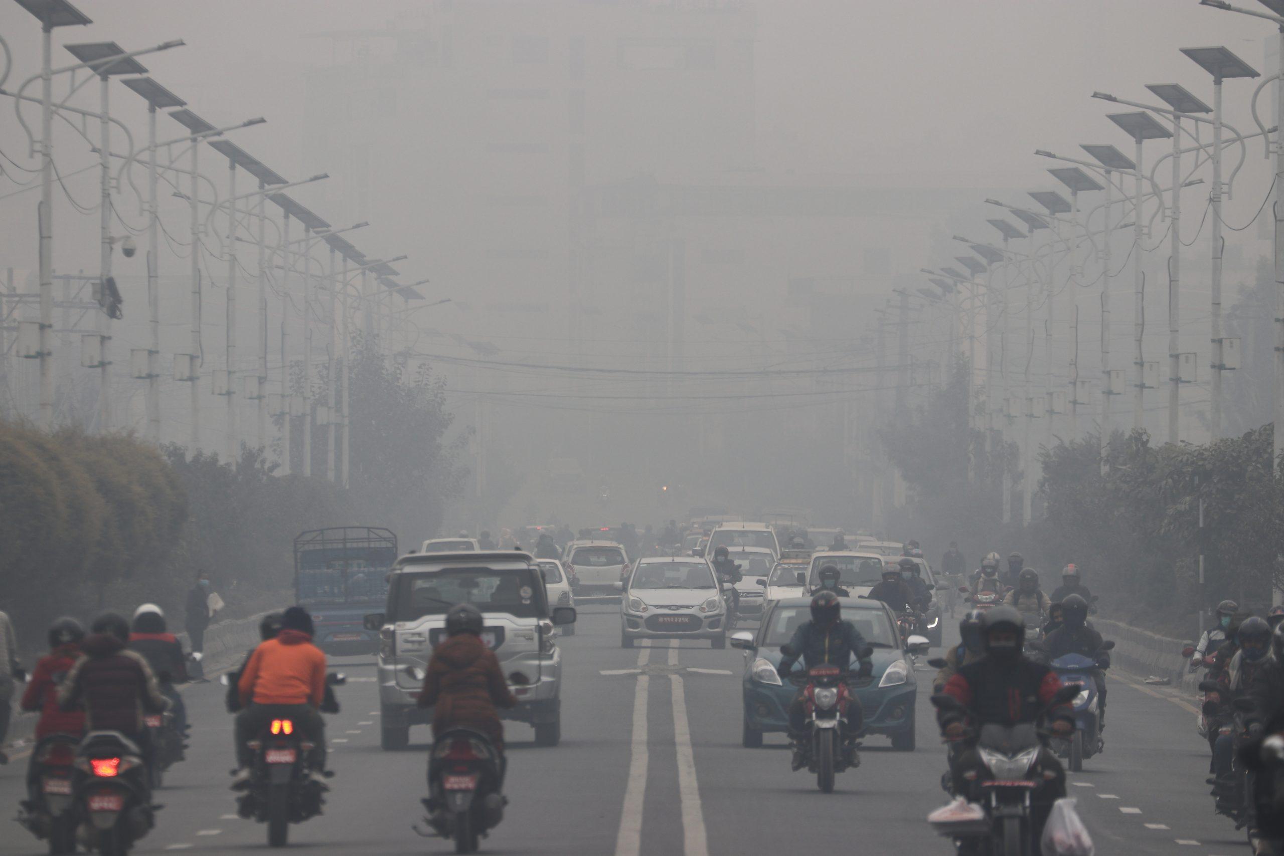 काठमाडौँ  फेरी विश्वकै प्रदूषित शहरको सूचिमा पहिलो नम्बरमा