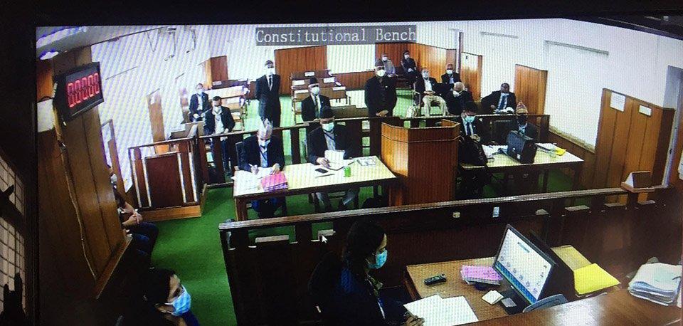 प्रतिनिधिसभा विघटन सम्बन्धी मुद्दामा सर्वोच्च अदालतको संवैधानिक इजलासमा बहस सुरु
