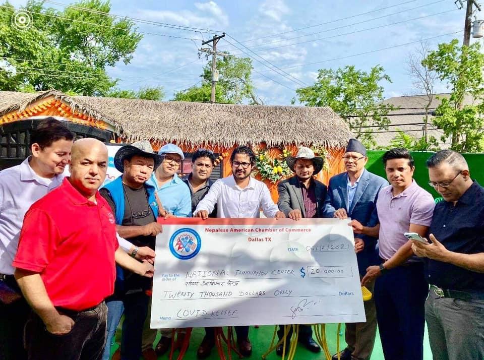 नेपलिज अमेरिकन च्याम्बर अफ कमर्शद्वारा नेपालको कोभिड राहतका लागि ९० हजार डलर बराबरको सहयोग