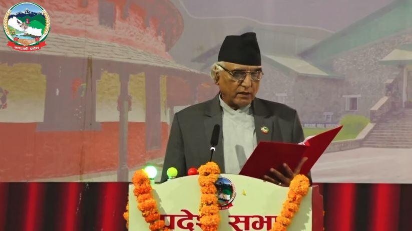 गण्डकी प्रदेश सरकारको  ३० अर्ब ३ करोड ९४ लाख २७ हजार बराबरको बजेट सार्वजनिक