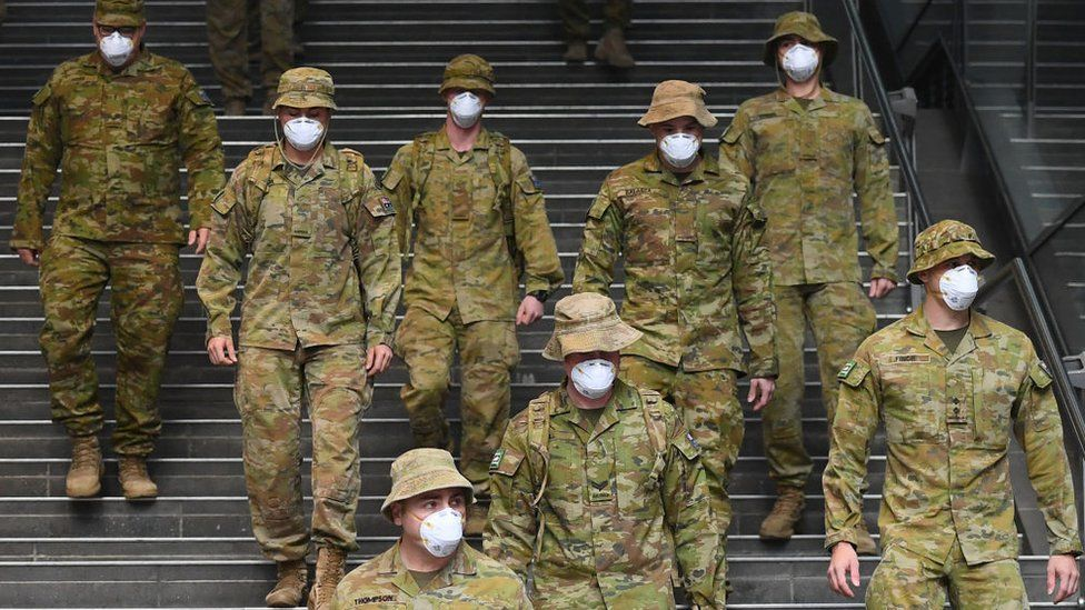 लकडाउन प्रभावकारी कार्यान्वयनका लागि सिड्नीमा सयौंको सङ्ख्यामा सेना परिचालन