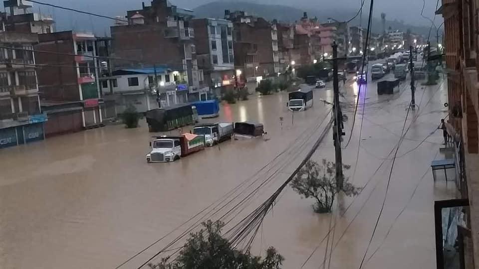 काठमाडौं उपत्यका र आसपासका क्षेत्रमा भारी वर्षा