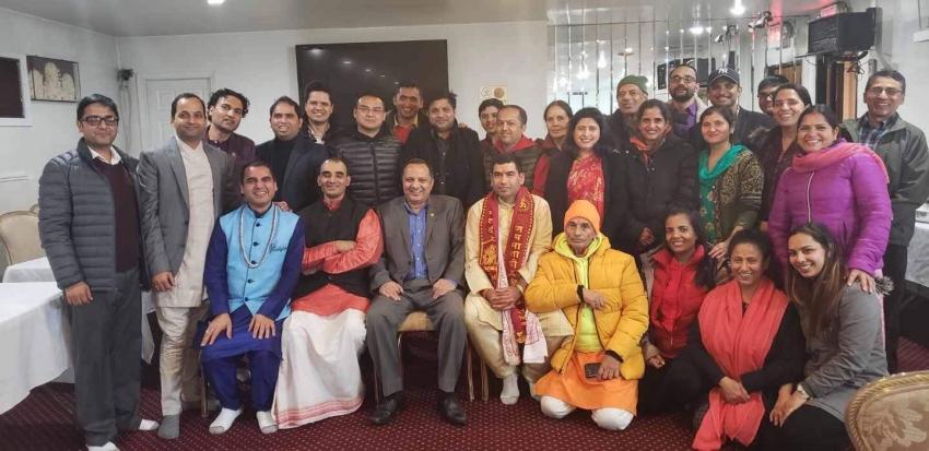 न्यूयोर्कमा जयतु संस्कृतम् तथा विश्व अध्यात्म केन्द्रको अन्तर्कृया कार्यक्रम