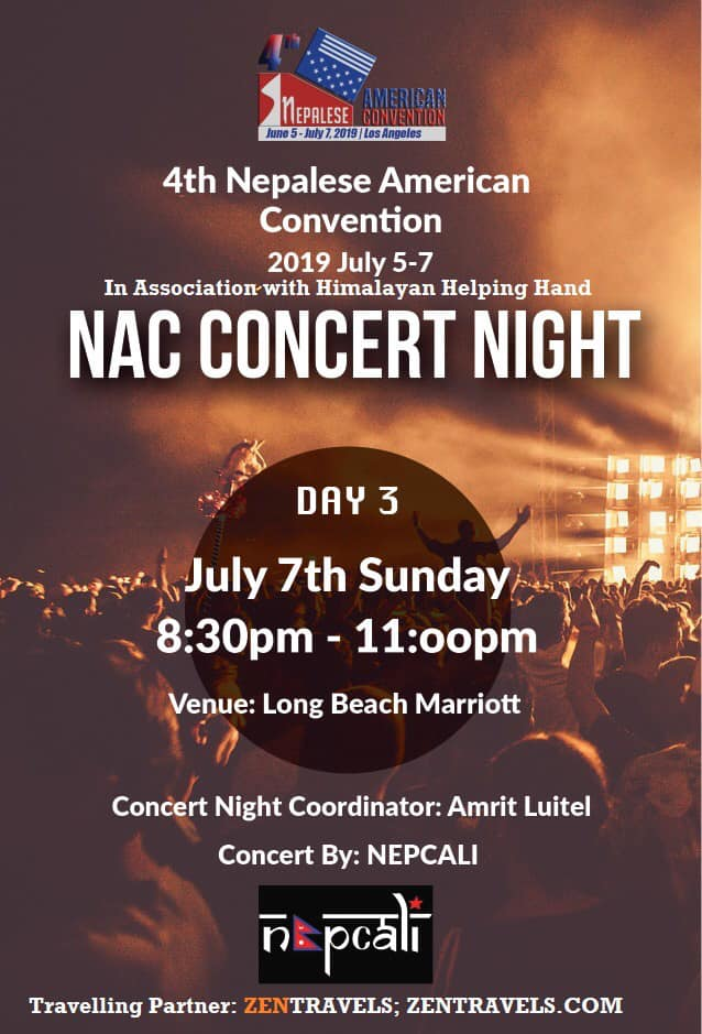 Invitation To The 4th Nepalese American Convention by Convener Mr. Bhandari