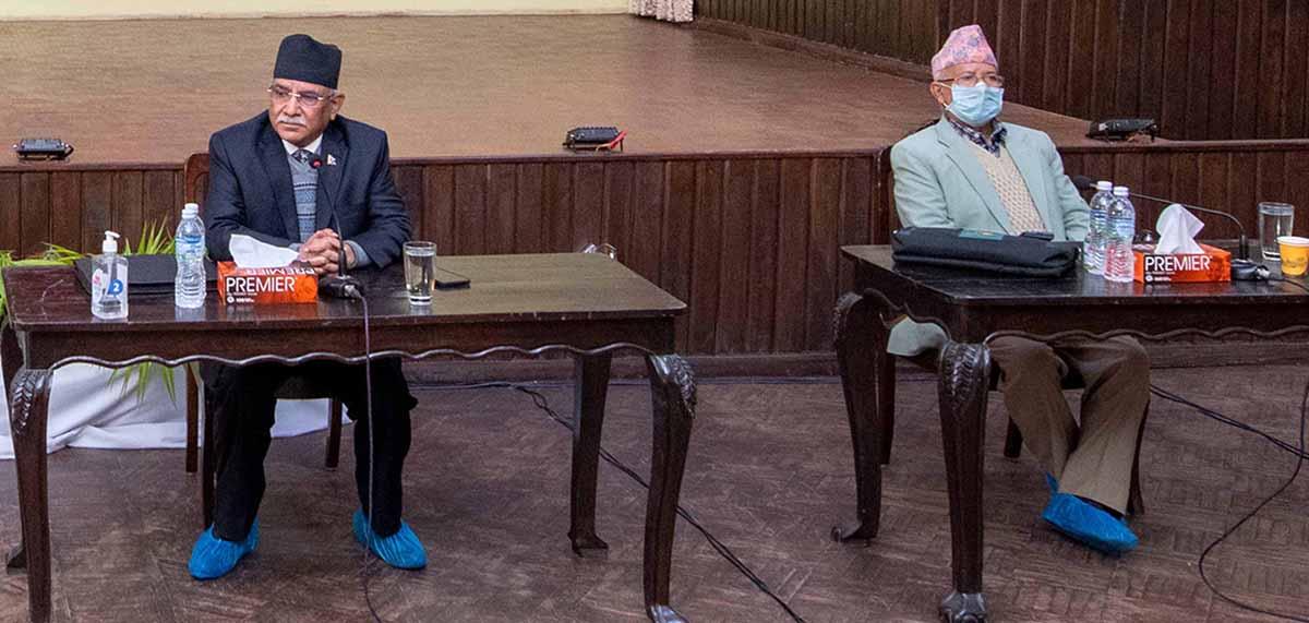 पार्टीमा दर्ता भएका  कुनै पनि प्रस्ताव फिर्ता लिने सहमति नभएको प्रचण्ड-नेपाल पक्षको  दाबी